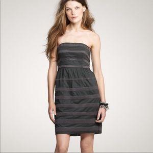 J. CREW Rugby Stripe Ginny Strapless Dress SZ 4